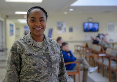 black female air force veteran