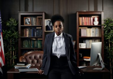 black female attorney looking serious